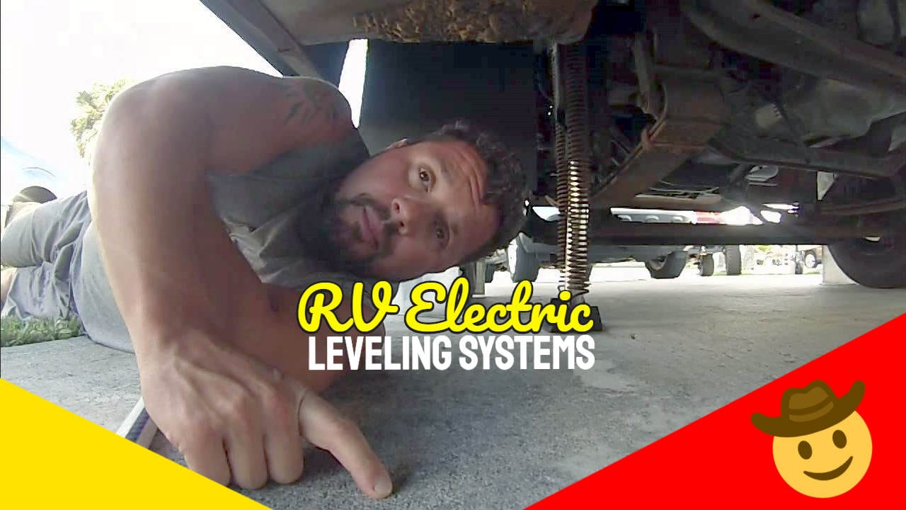 "Image text: ""RV Electric Leveling Systems""."