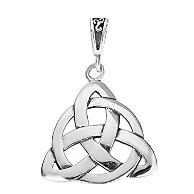 STERLING SILVER WICCAN TRIQUETRA PENDANT